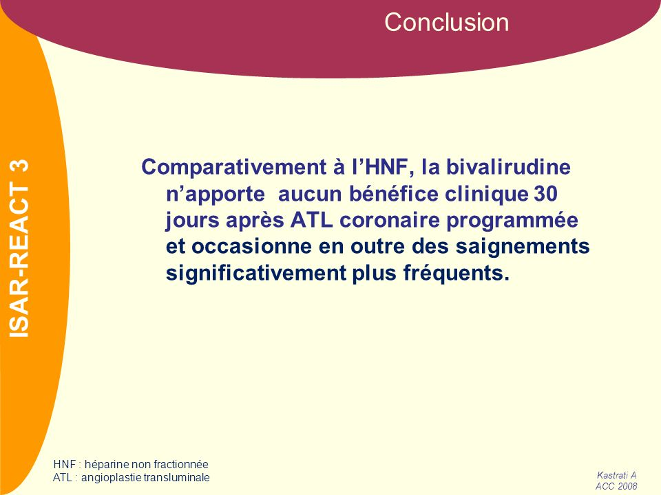 Conclusion ISAR-REACT 3