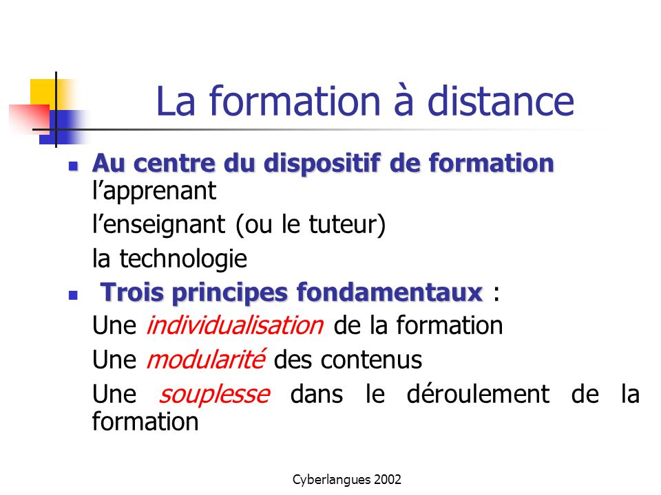 formation a distance fle