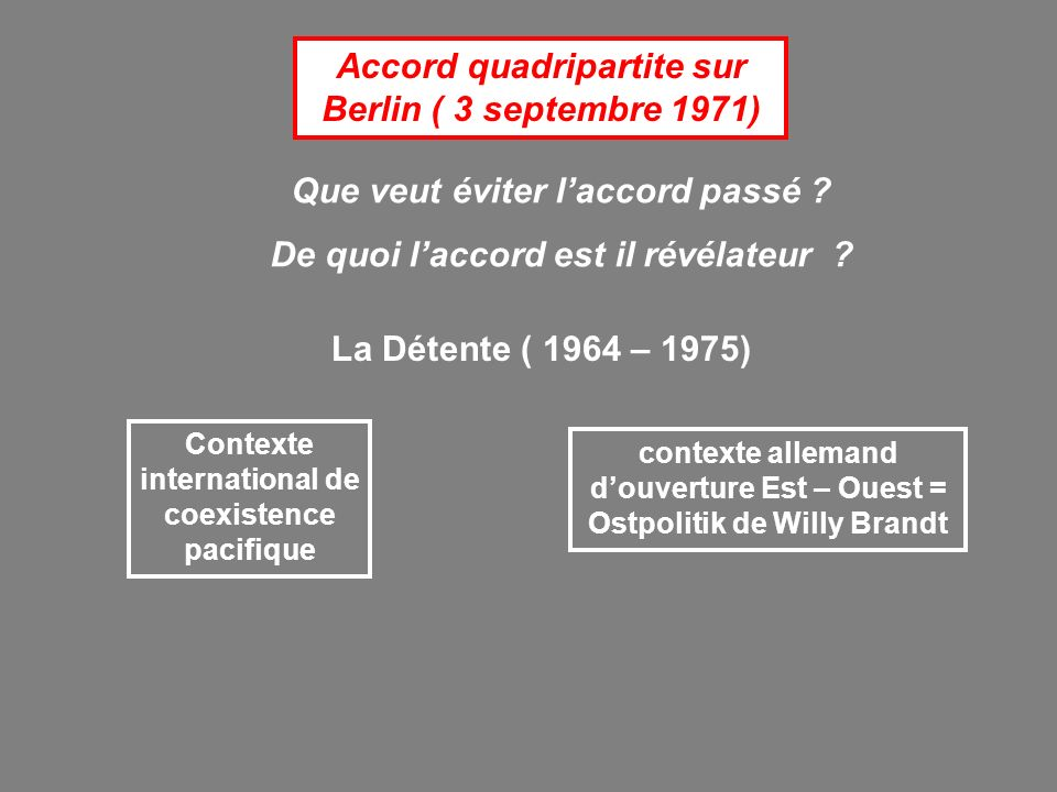 Accord quadripartite sur Berlin ( 3 septembre 1971)