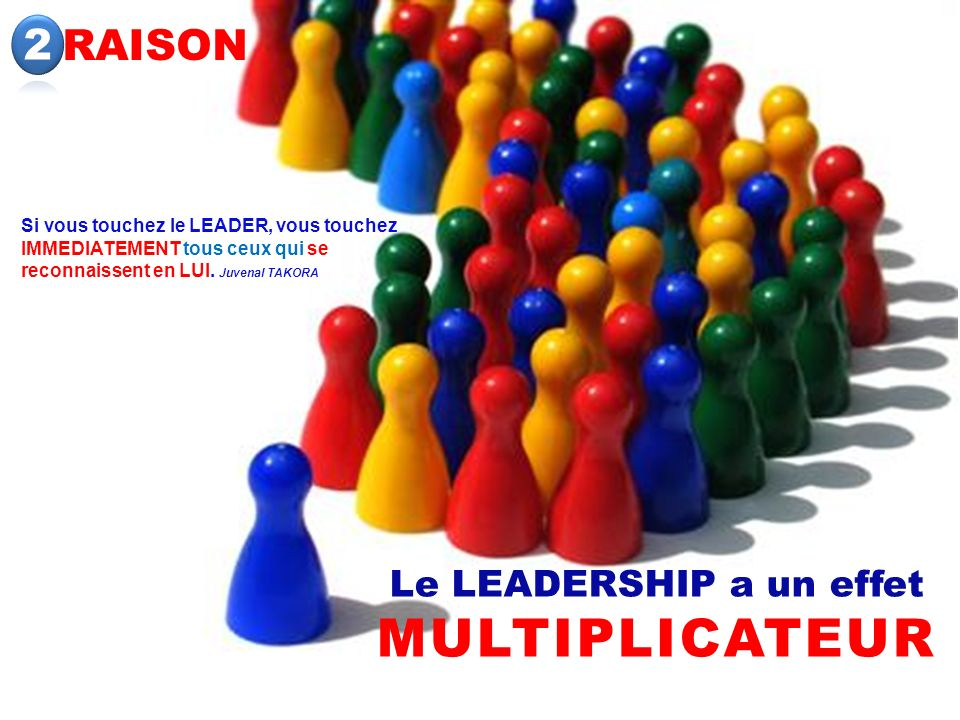 Le LEADERSHIP a un effet MULTIPLICATEUR