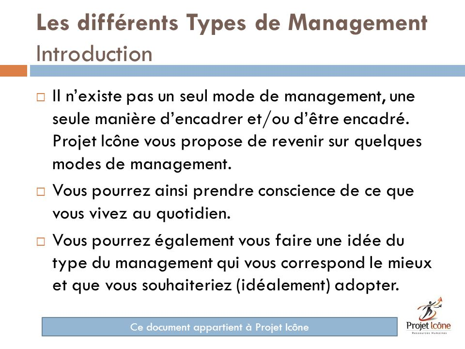 Les différents Types de Management Introduction