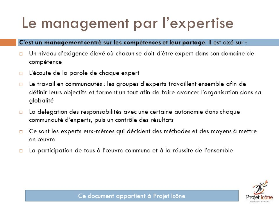 Le management par l'expertise