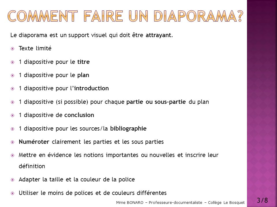 Comment faire un diaporama