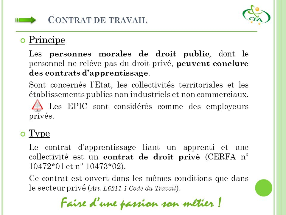 3d8cb49885a Le Contrat d Apprentissage Droits et Obligations - ppt télécharger