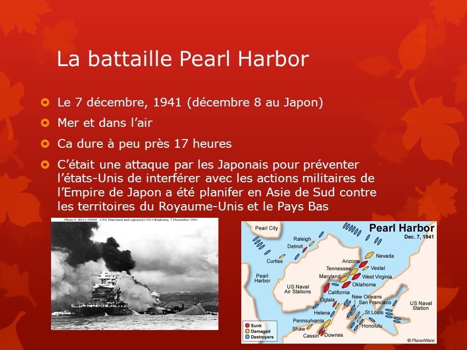 La battaille Pearl Harbor
