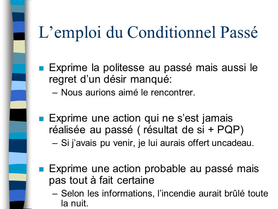 Rencontrer conditionnel