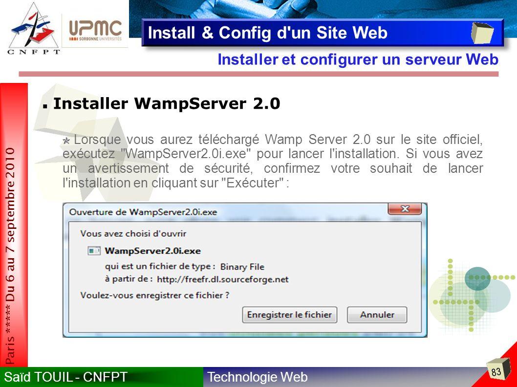 PLAN DE FORMATION Introduction Installer et configurer un