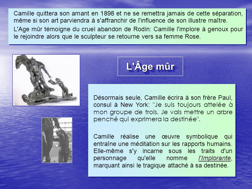 camille claudel et auguste rodin ppt video online t l charger. Black Bedroom Furniture Sets. Home Design Ideas