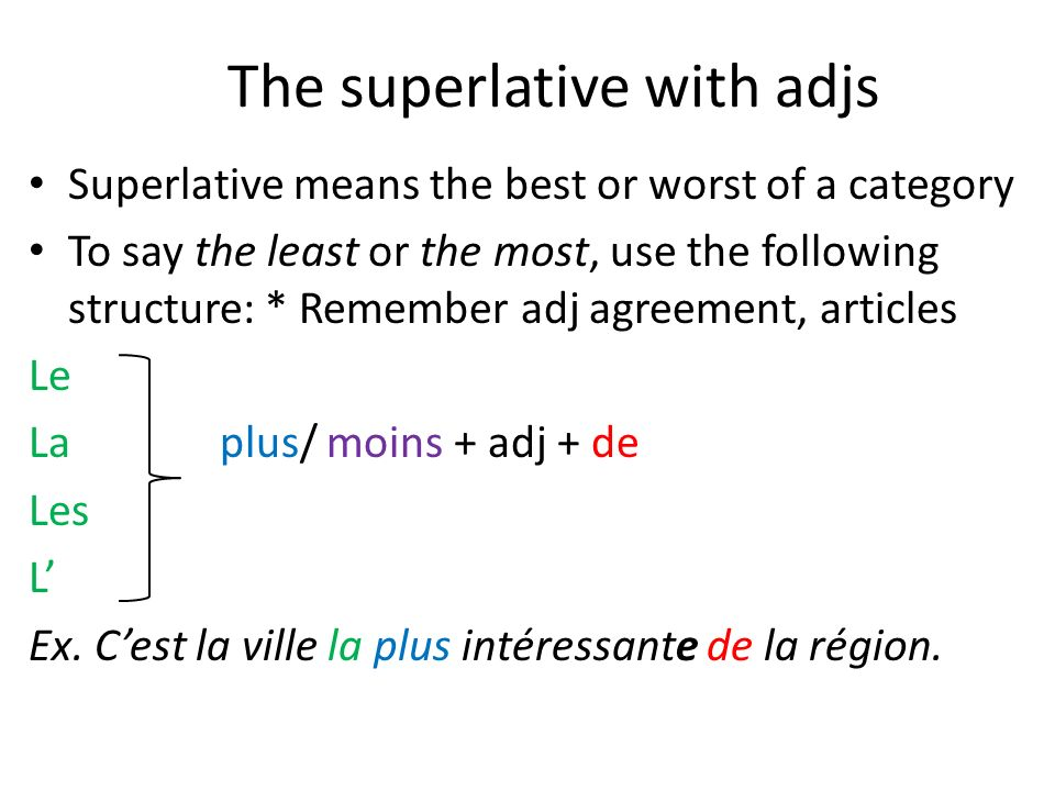 The superlative with adjs