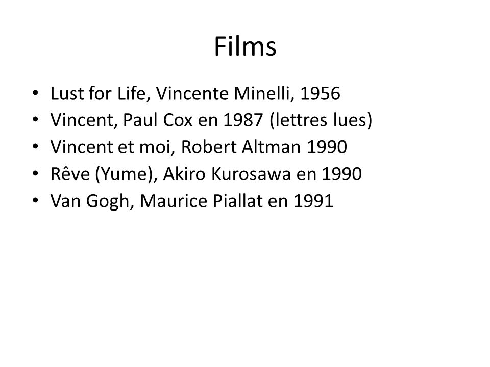 Films Lust for Life, Vincente Minelli, 1956