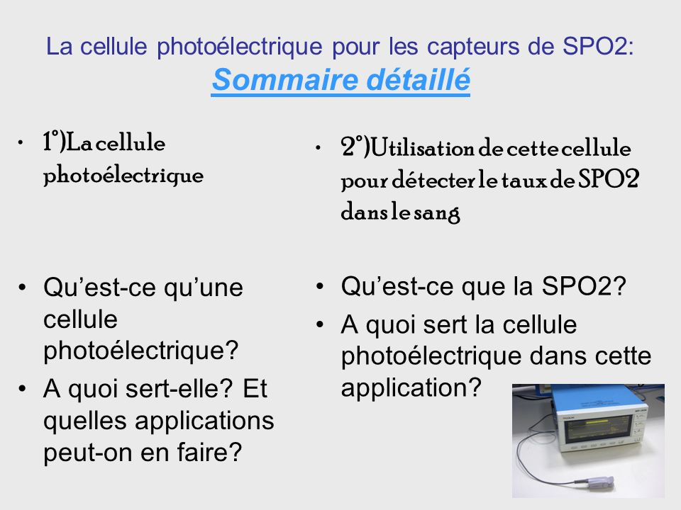 1°)La cellule photoélectrique