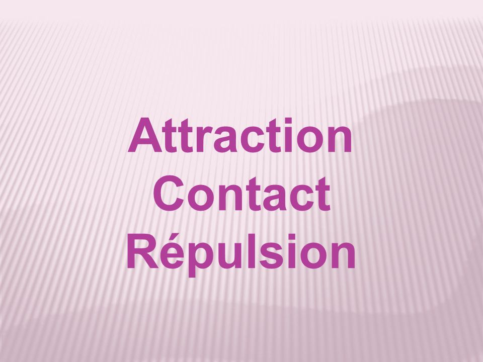 Attraction Contact Répulsion