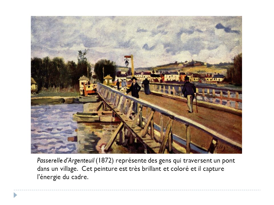 « Alfred Sisley Passerelle. » Google Images. 15 Avril 2012.