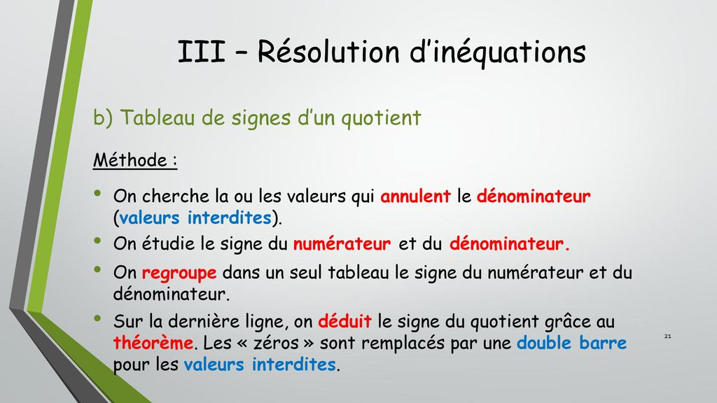 Chapitre 7 Equations Et Inequations Ppt Telecharger