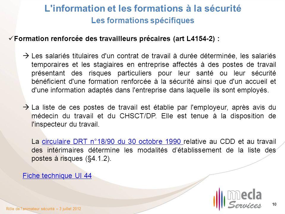 554a5b73451 L information et les formations à la sécurité - ppt télécharger