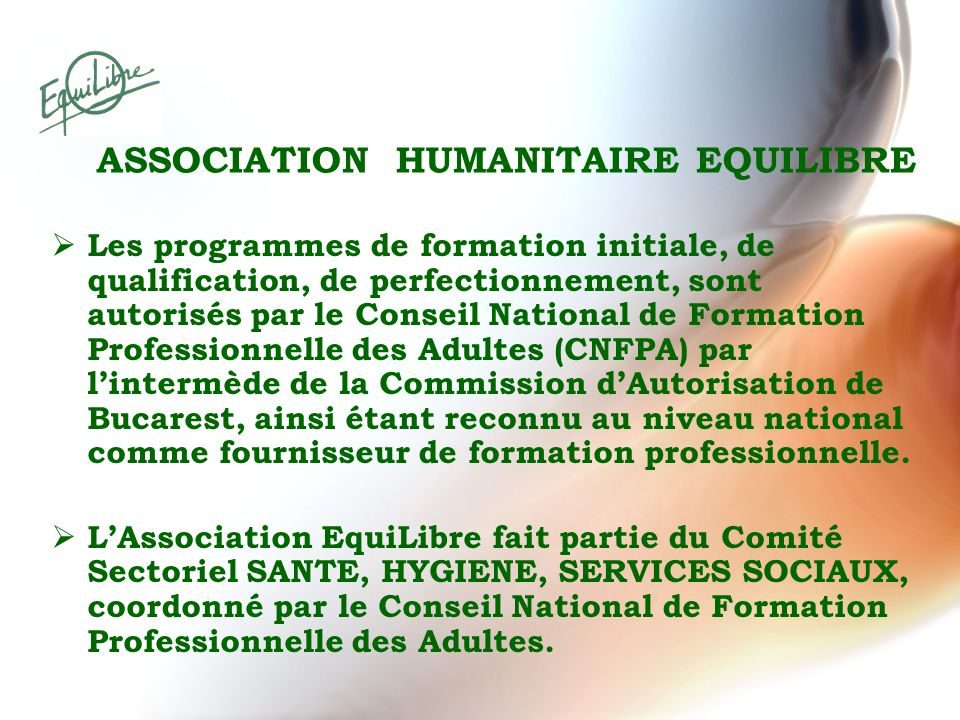 ASSOCIATION HUMANITAIRE EQUILIBRE