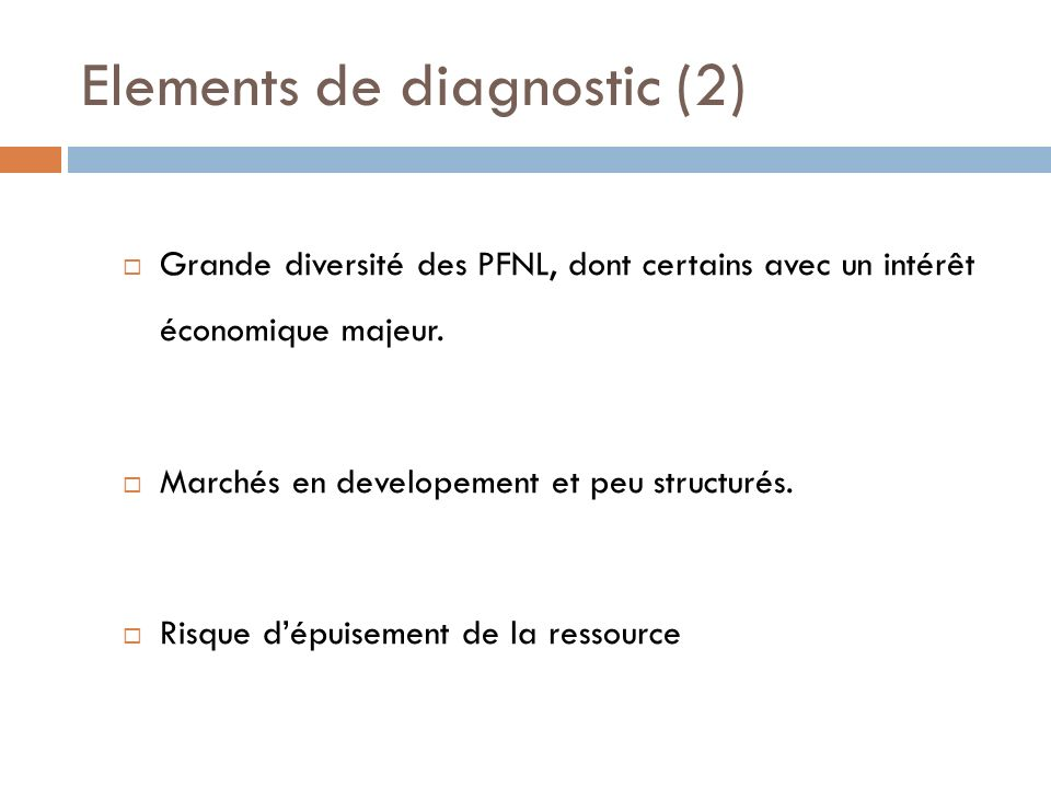 Elements de diagnostic (2)