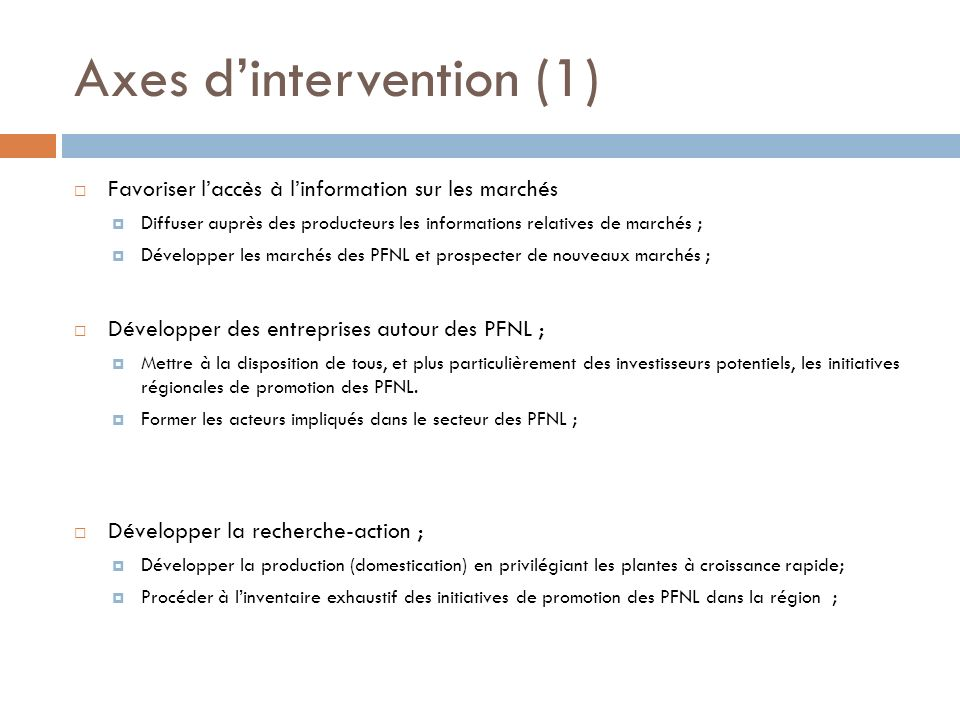 Axes d'intervention (1)