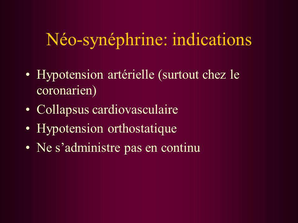 Néo-synéphrine: indications