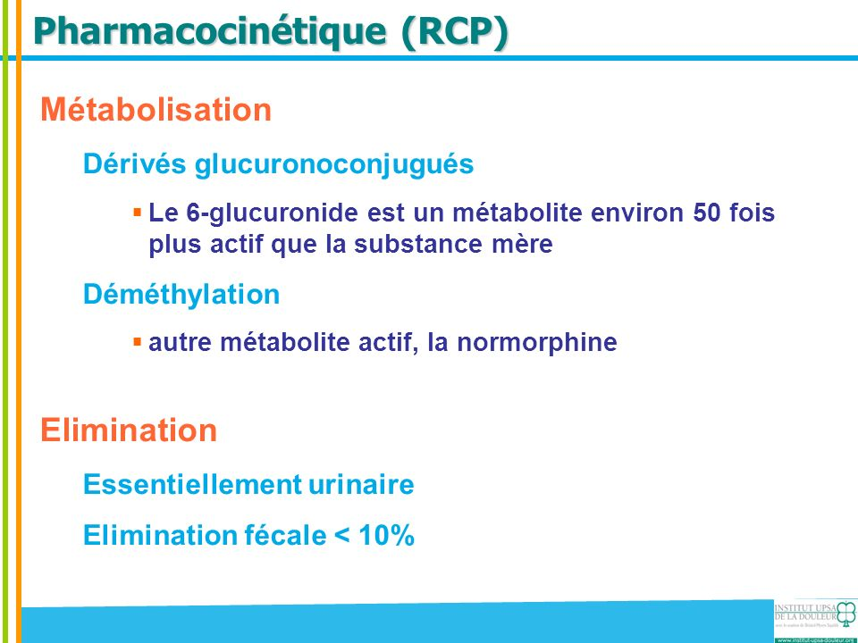Pharmacocinétique (RCP)
