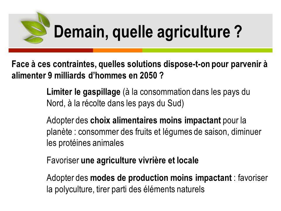 nourrir la population mondiale en 2050