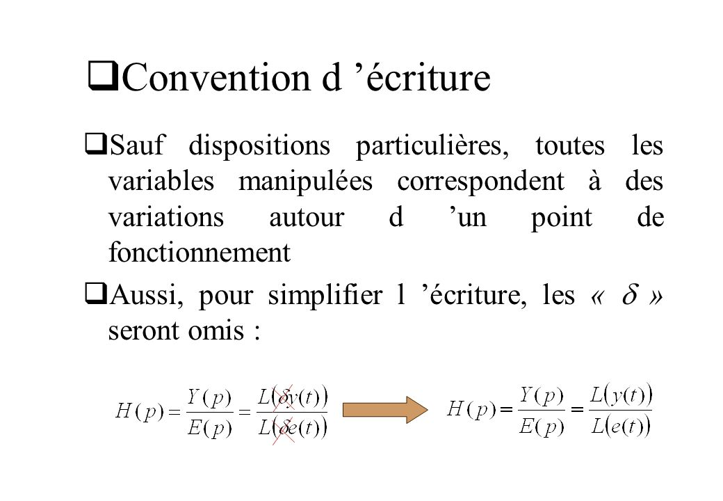 Convention d 'écriture