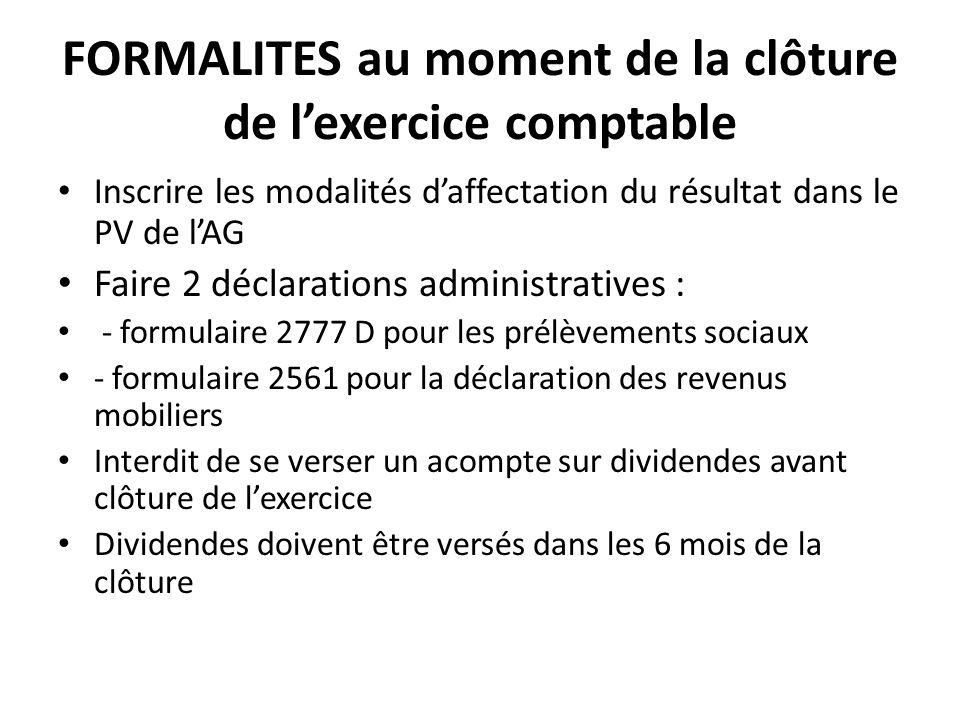 Formalites Au Moment De La Cloture De L Exercice Comptable Ppt Telecharger