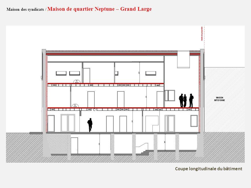 Coupe longitudinale du bâtiment