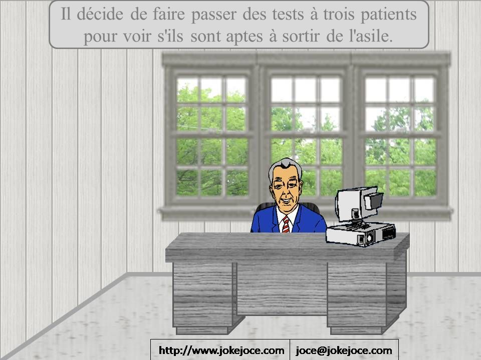 Il décide de faire passer des tests à trois patients
