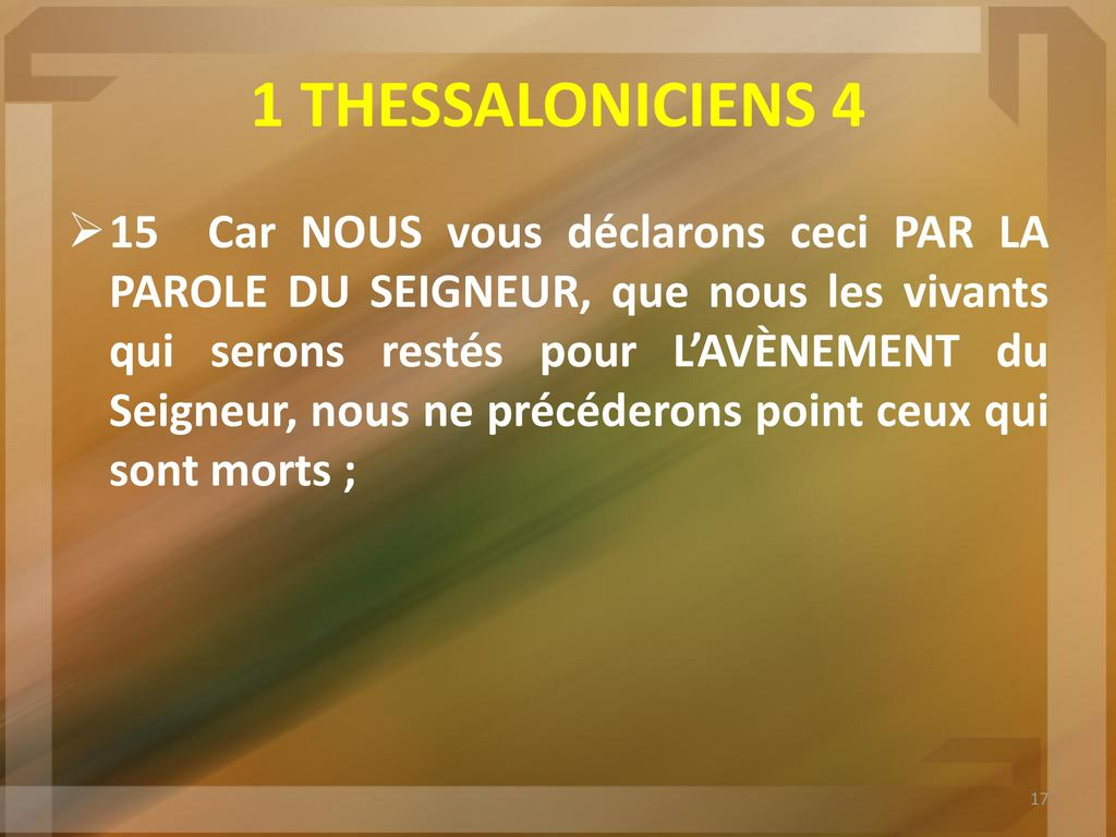 rencontres 1 Thessaloniciens