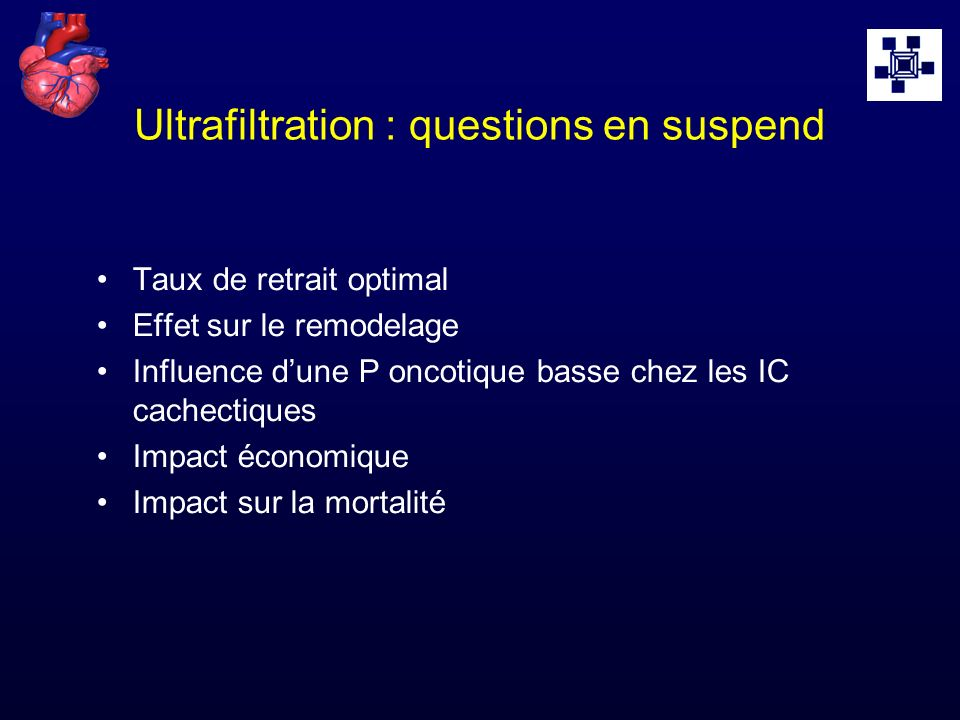 Ultrafiltration : questions en suspend