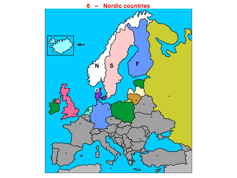 6 – Nordic countries F N S D