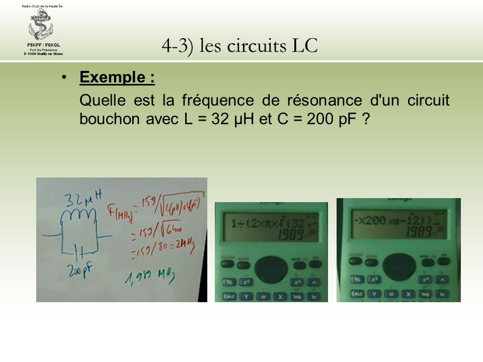 4-3) les circuits LC Exemple :