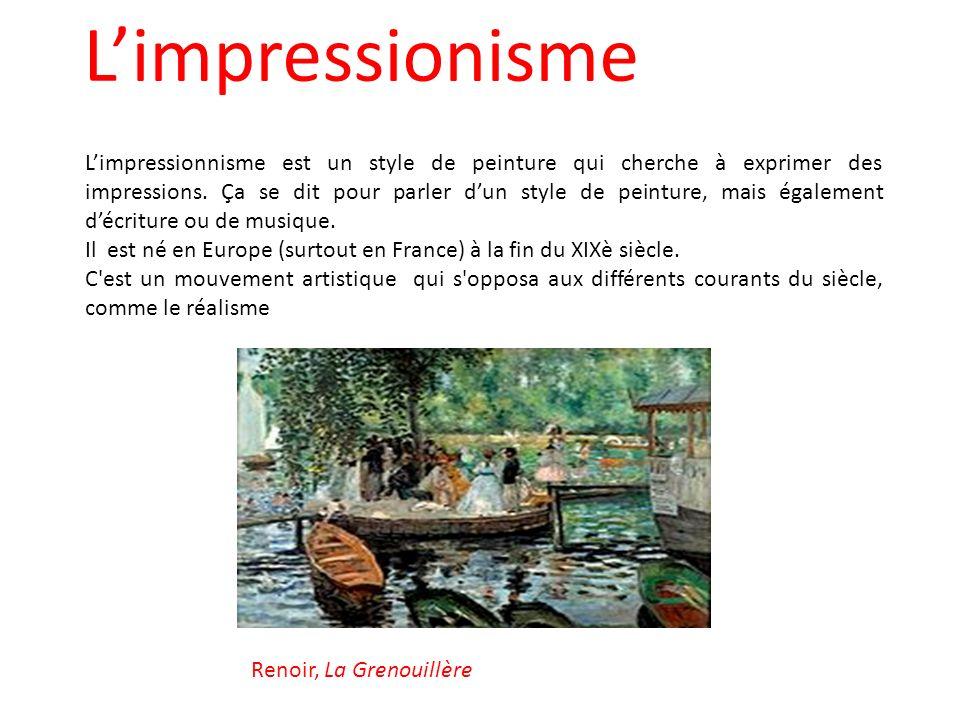 l impressionisme l impressionnisme est un style de. Black Bedroom Furniture Sets. Home Design Ideas