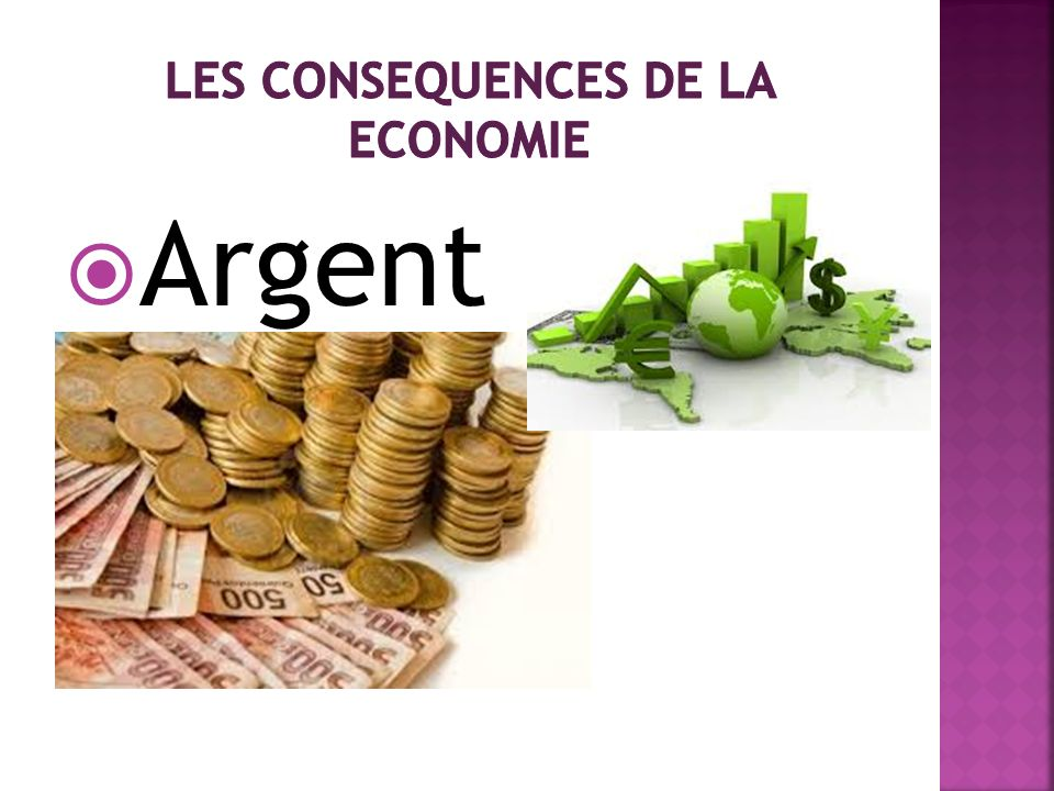 Les consequences de la economie