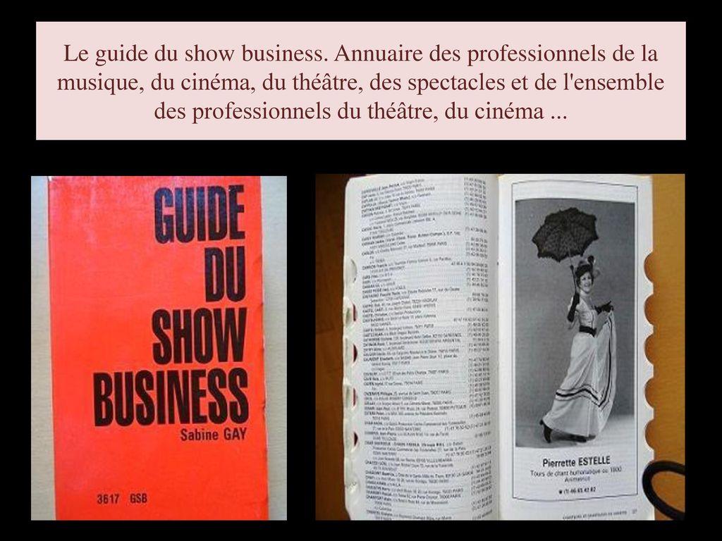 Le guide du show-business présentation.