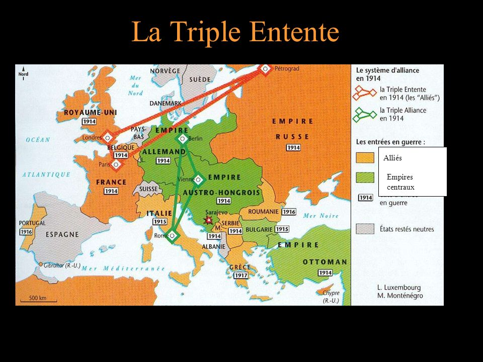 La Triple Entente Alliés Empires centraux