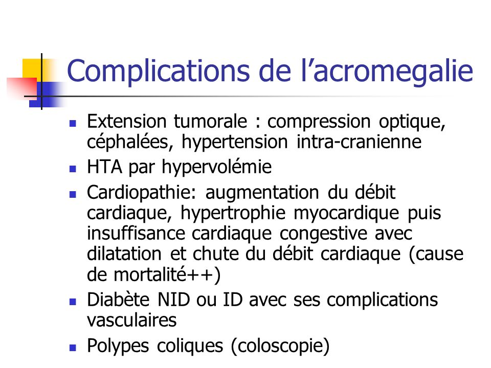 Complications de l'acromegalie