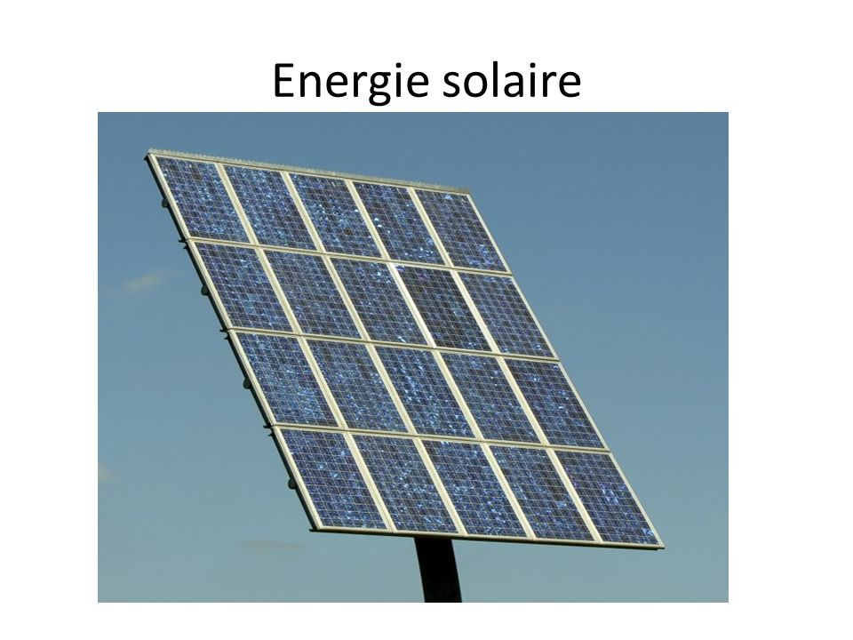 Energie solaire