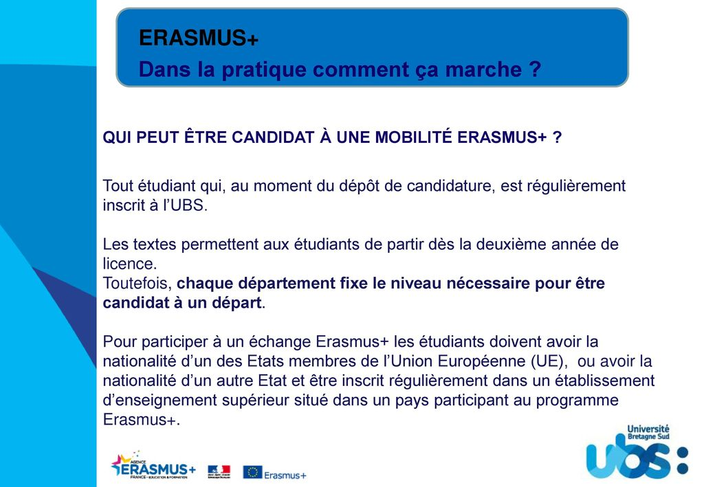 Calendrier Universitaire Ubs 2019 2020.Tout Savoir Sur La Mobilite Internationale Ppt Telecharger