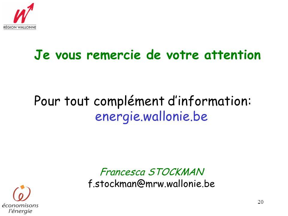 Francesca Stockman Dgtre Division Energie Ppt Telecharger