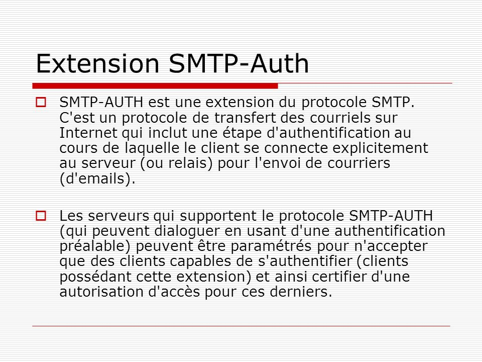 Extension SMTP-Auth