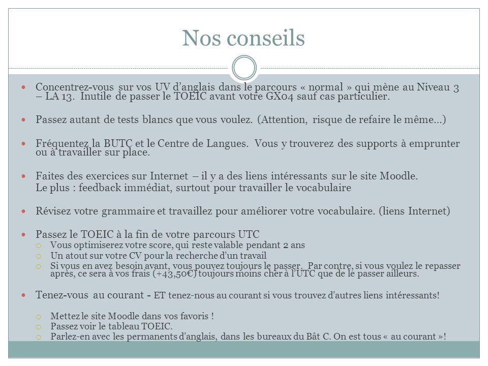 Le Toeic A L Utc Ppt Video Online Telecharger