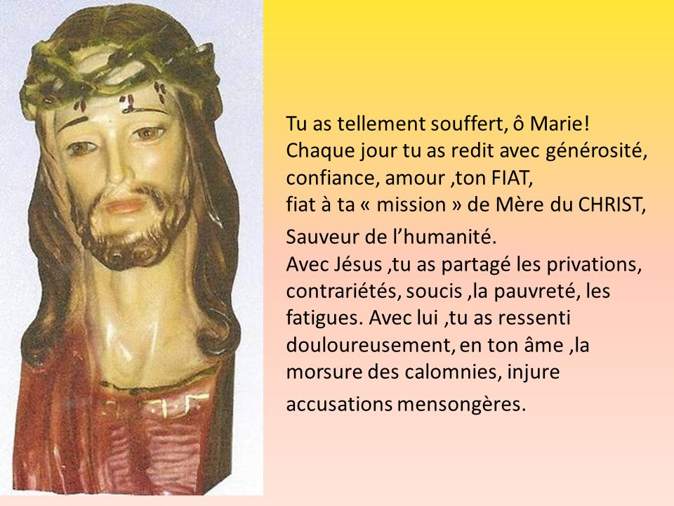 Tu as tellement souffert, ô Marie