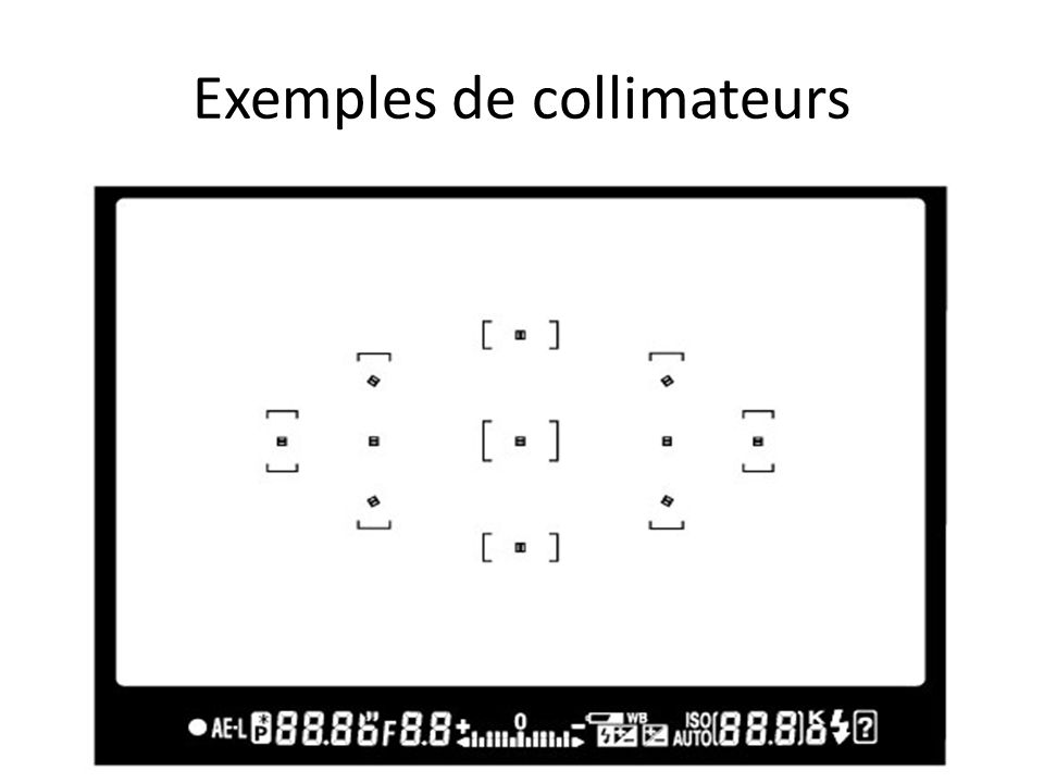 Exemples de collimateurs