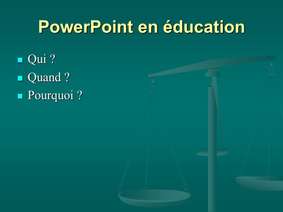 PowerPoint en éducation
