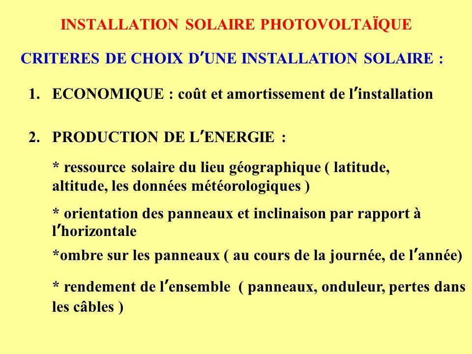 installation solaire photovolta que ppt video online t l charger. Black Bedroom Furniture Sets. Home Design Ideas