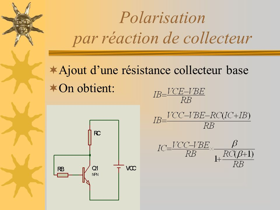 Polarisation par réaction de collecteur