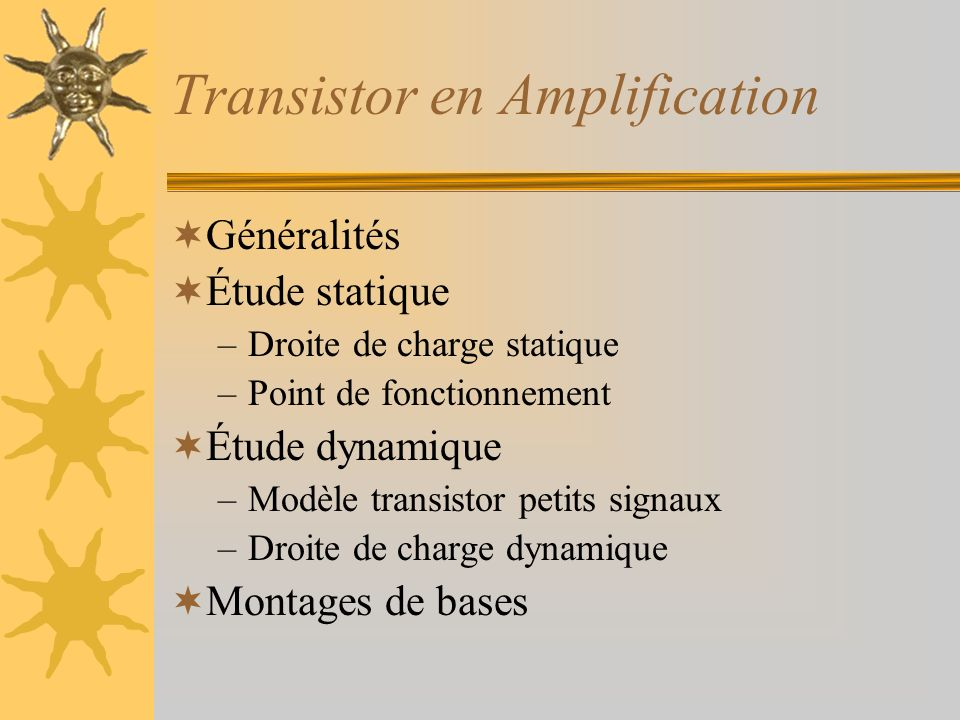 Transistor en Amplification