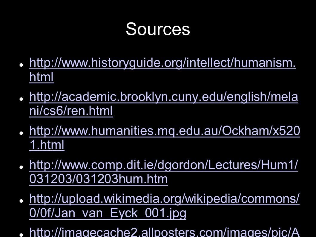 Sources   html